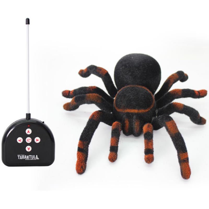 Electronic Pets Remote Control Simulation Spider 11 4ch Realistic Rc Spider Scary Toy Prank Gags Practical Jokes Model Toys Toys & Hobbies Electronic Pets
