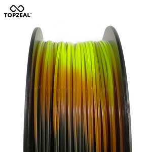 Image 4 - TOPZEAL Newly PLA Tri Temp Change Color Lava 3D Printer Filament, Black to Red to Yellow, 1KG 1.75mm with Tolerance +/ 0.05mm