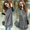 3xl plus size sweater women spring autumn winter 2017 bermuda feminina gray fashion loose letters sweater knit female A1448