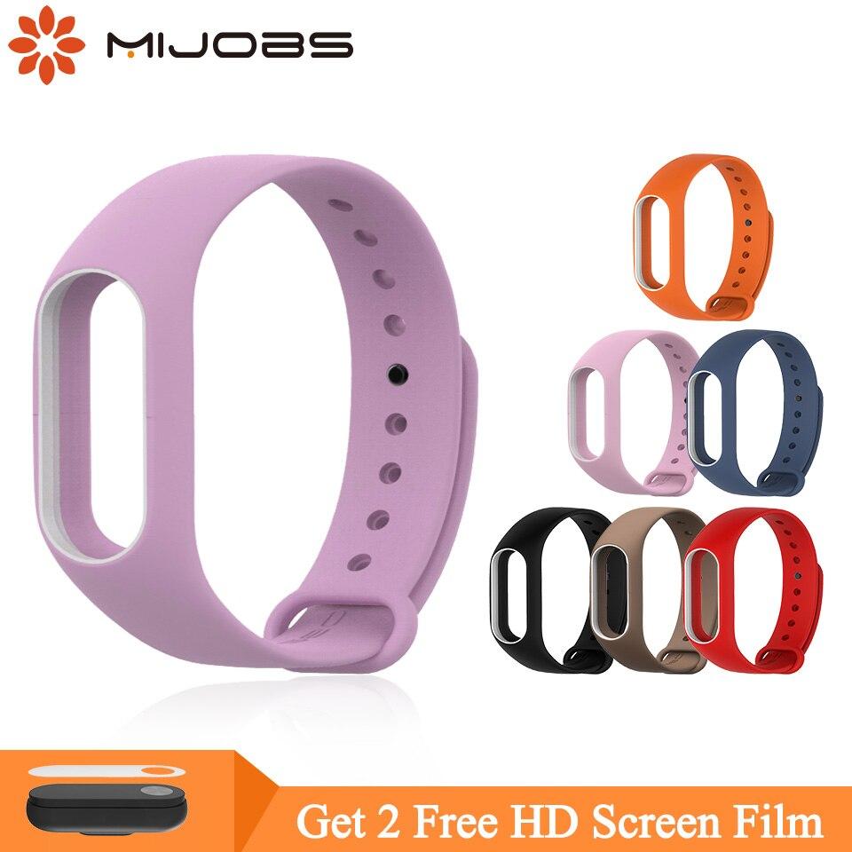 Mijobs Bracelet For Xiaomi Mi Band 2 Strap Silicone Strap Miband 2 Bracelet Wristbands Band Wrist Strap For Xiaomi Mi Band 2
