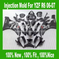 100 Fit Injection Black Fairing Kit For 06 07Yamaha YZF R6 06 07 YZF R6 06