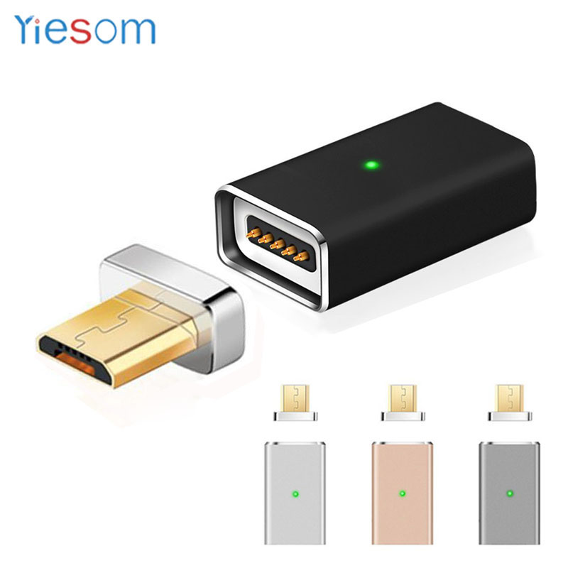YIESOM <font><b>Magnet</b></font> Charging Micro USB To Magnetic <font><b>Charger</b></font> Cable Adapter for Android Mobile <font><b>Phone</b></font> <font><b>Charger</b></font> Adsorption <font><b>Magnet</b></font> Adapter