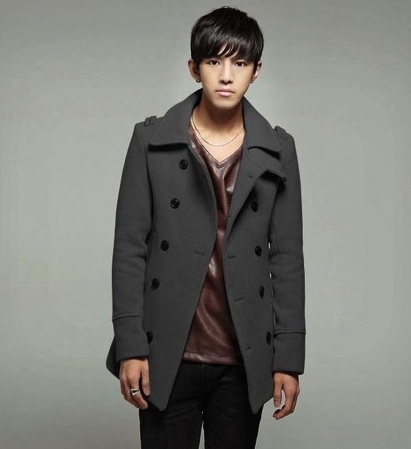 Popular Pea Coat Men Grey-Buy Cheap Pea Coat Men Grey lots from ...