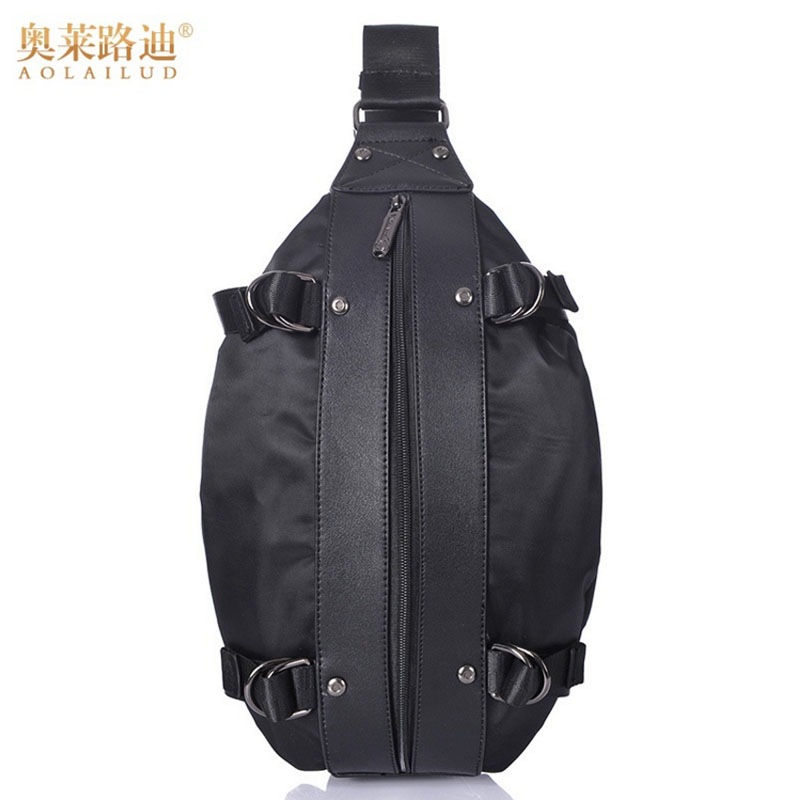 Men Nylon Shoulder Messenger Oval Fanny Waist Bag Military Travel Sling Chest Pack Cross Body Messenger Shoulder Back pack men waterproof military cross body sling pack messenger shoulder back chest travel riding bag lby2017