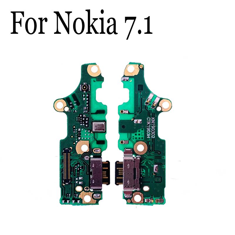 New Original For Nokia 7.1 USB Dock Charging Port Mic Microphone Module Board Flex Cable Parts Replacement For Nokia 7.1