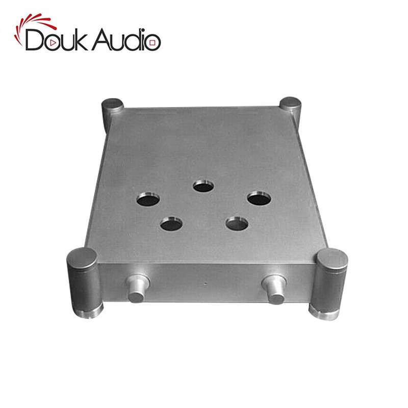 300B Vacuum Tube Amplifier Chassis Aluminium Enclosure DIY Case Audio Box Silver queenway audio bz2012rkv aluminium amplifier chassis multi amplifier case 202mm 143mm 362mm 202 143 362mm