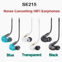 Ship 24hrs! 3 Colors SE215 Hi fi Sereo Headphones 3.5MM In ear Earphones Detachable Cable Headset with Retail Box VS SE535
