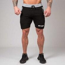 Erkekler spor salonları spor vücut geliştirme pamuk şort yaz tarzı rahat moda sıska kısa pantolon erkek Jogger egzersiz marka Sweatpants