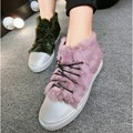 Faux Fur Decor Soft Leather Women's Shoes Women Brand Shoes Footwear Pig Leather Anti Slip Women Casual Shoes Beauty Campus