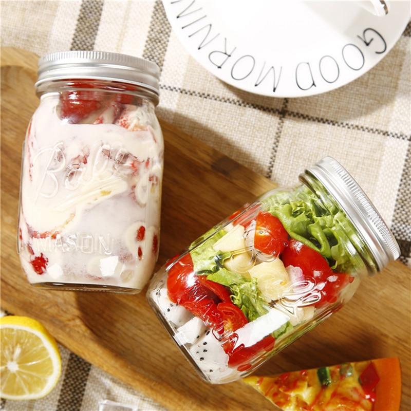130 ~ 780ML Mason Jar glas kopp dryck rån med lock halm sommar Glass - Hemlagring och organisation - Foto 4