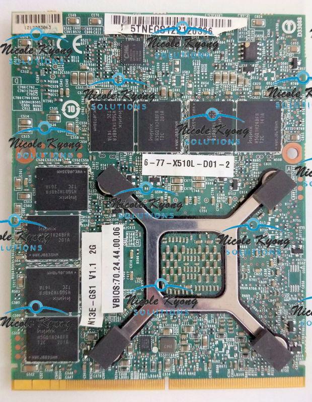 GTX675M GTX 675M 6-71-X510L-D01 6-71-X510L-D02 2G VGA Video Card For Clevo X7200 X8100 P150HM P170HM P150EM P170EM P150SM P170SM