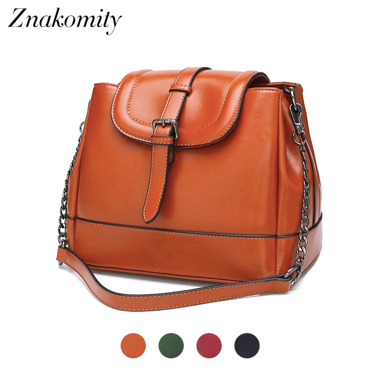 Znakomity real leather luxury Ladies hand bags womens Shoulder bag genuine leather Female casual tote messenger bag women brown