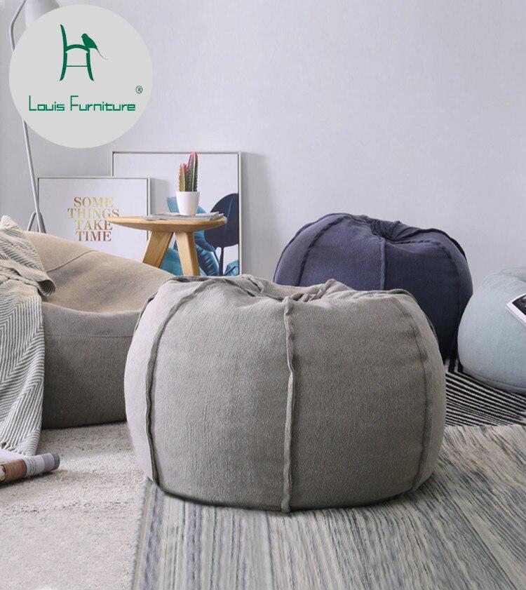 US $161.0  Louis Fashion Bean Bag Lazy Sofa Small Apartment Living Room  Creative Leisure Chair Personality Single Tatami North Europe-in Bean Bag  ...