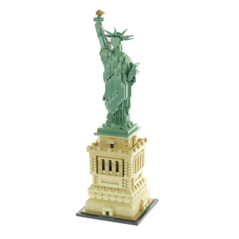 Lepin 17011 New Toys Architecture Series The Legoing 21042 State of Liberty Set Model Building Blocks Bricks Toys For Kids Gift 2018 new famous architecture series the french arc de triomphe 3d model building blocks classic toys gift