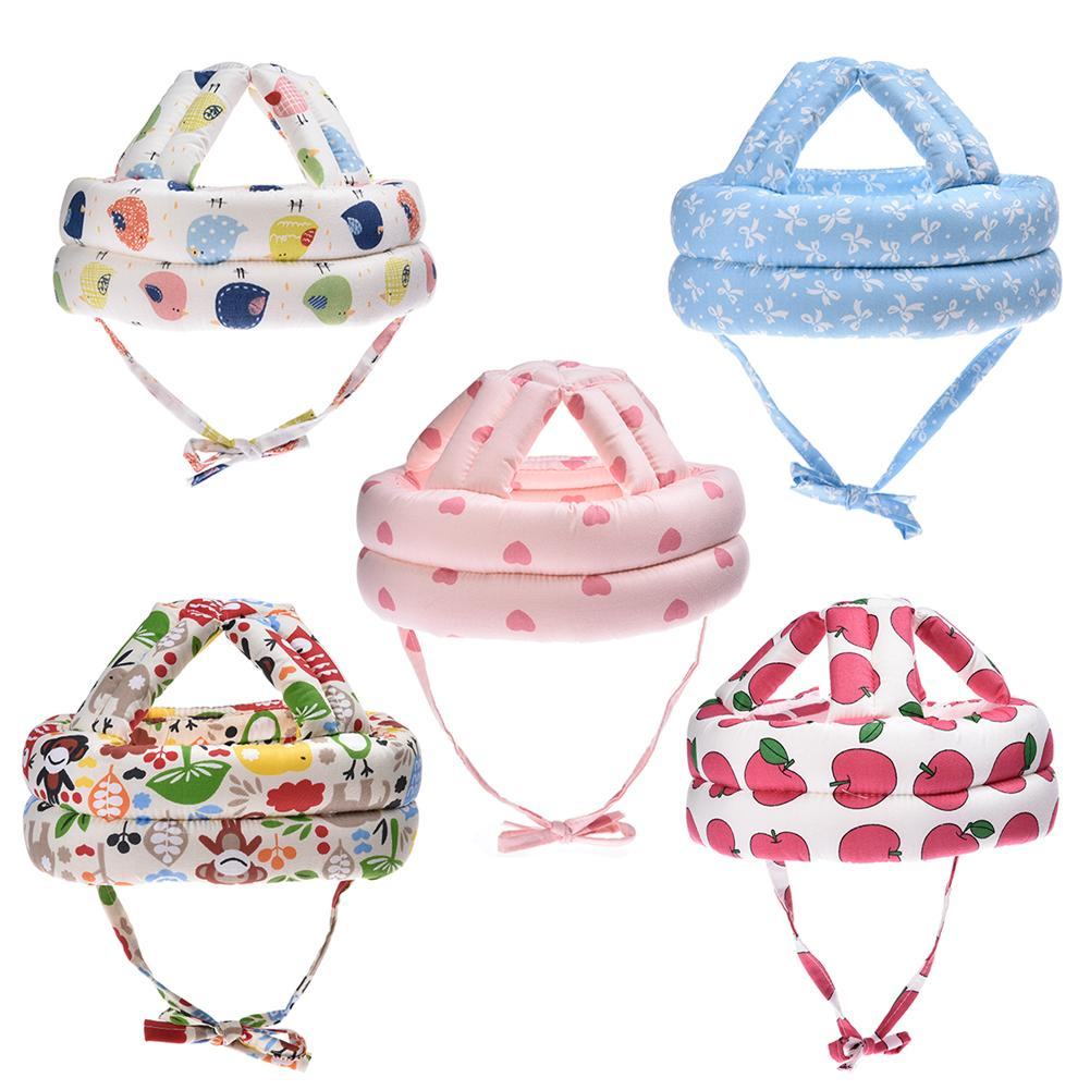 Cartoon Baby Safety Helmet Head Protection Toddler Kids Adjustable Soft Headguard Cap To Prevent Bumps Infant Head Safety Cap baby safety helmet toddler headguard hat protective infants soft cap adjustable for crawl walking running outdoor playing