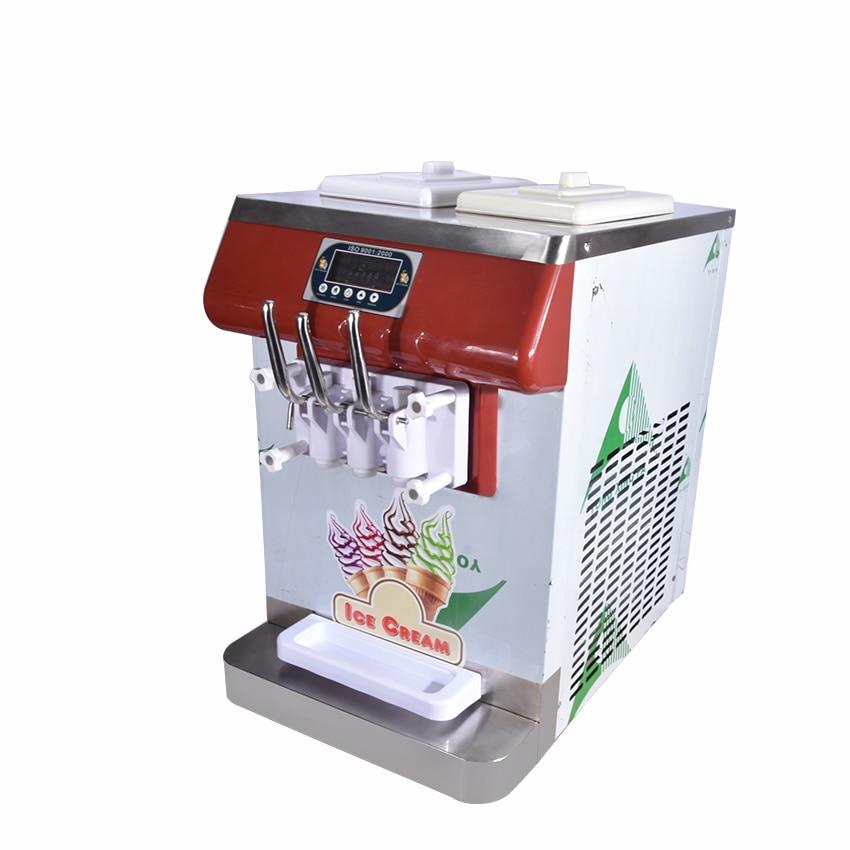 ICM-335 three color ice cream Countertop Soft Serve Ice Cream Machine Frozen Yogurt Ice Cream Machine R404a 110V,220V 18-25L/H