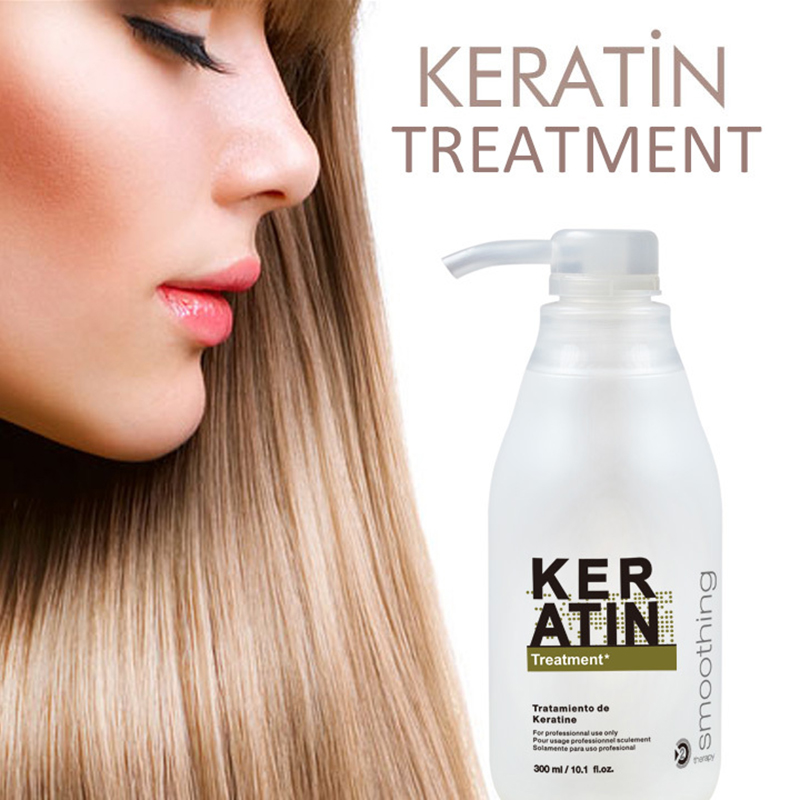 Brazilian Keratin Treatment straightening hair 8% formalin free shipping 300ml Eliminate frizz and have shiny and healthier hair