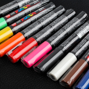 Image 5 - 12 Colors Set Mitsubishi Uni Posca PC 1M Paint Marker  Extra Fine Bullet Tip 0.7mm Art Marker Pens Office School