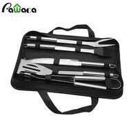 5Pcs BBQ Tools Set Stainless Steel BBQ Kit Fork Knife Clip Shovel Brush Tongs Grill Set