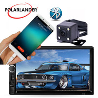 7 inch LCD Touch Screen Auto Radio Car Radio Player Bluetooth 2 DIN Optional 170 degree CCD rearview camera Mirror Link