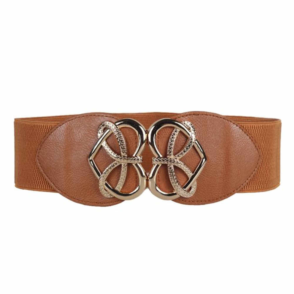 Belt For Women Retro Fashion Decorative Elastic Waistband High Quality Slender Elastic Wide Leather Belt Dress Accessories 2019