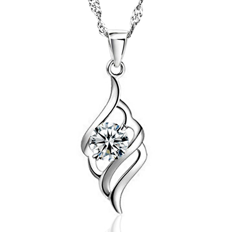 Hot New Fashion 925 Necklaces Pendants Plated With Austria Cs