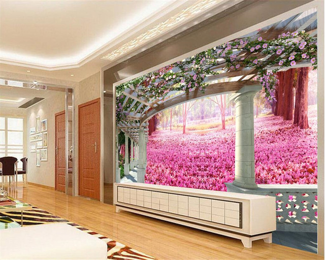 Online Shop Beibehang Custom wallpaper modern 3D cherry garden ...
