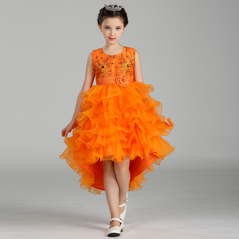 Filles princesse robes enfants mariages princesse robe de soirée Costume européen pour filles robe de bal 2-8 ans