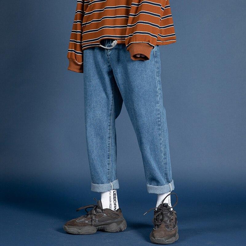 2019 Men's Stretch Slim Fit Classic Skinny Jeans Trousers Black/blue Color Male Original Leisure Casual Pants Big Size M-5XL