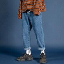 2019 männer Stretch Slim Fit Klassische Skinny Jeans Hosen Schwarz/blau Farbe Männlichen Original Freizeit Casual Hosen Große größe M 5XL
