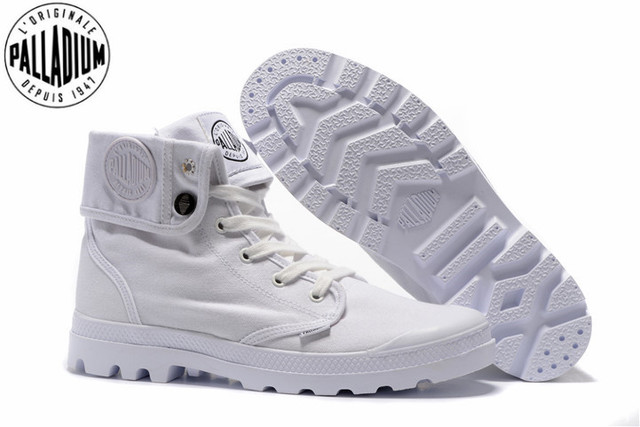 499daf0c66 PALLADIUM Pallabrouse All White Sneakers Men High top Military Ankle Boots  Canvas Casual Shoes Men Casual Shoes Size 39 45-in Men's Casual Shoes from  Shoes ...