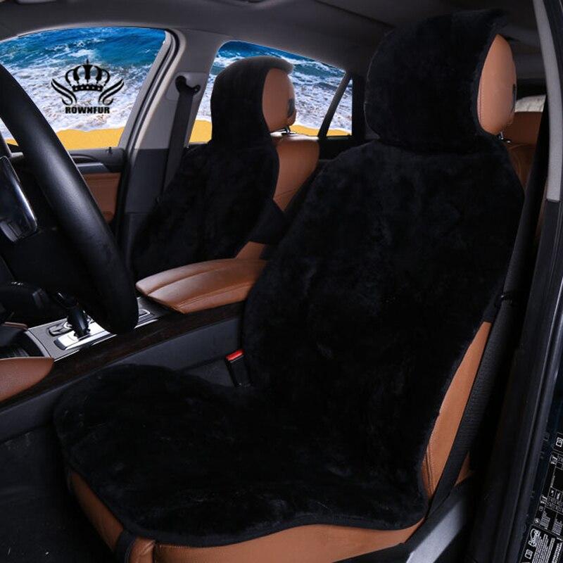 1 pc, 2 pc, 1 set housses de siège de voiture de 100% en peau de Mouton tondu fourrure de Mouton premium, housses de siège de voiture universel, noir couleur, pour voiture mazda, etc.