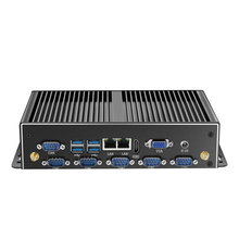 Fanless Industrial Mini PC Intel Core i7 4500U i5 4200U Windows Linux 8GB RAM 120GB SSD Dual Gigabit Ethernet 6*RS232/485 8*USB