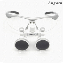 3.5X multiple surgical loupe adjustable eye distance promotional price optical Galileo glasses dental magnifier