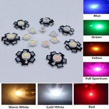 100 шт., 1 Вт, 3 Вт, светодиодная лампа COB, чип, белый, красный, синий, желтый, розовый, УФ, RGB, мини светодиодная лампа, диодные бусины для DIY, светоди...