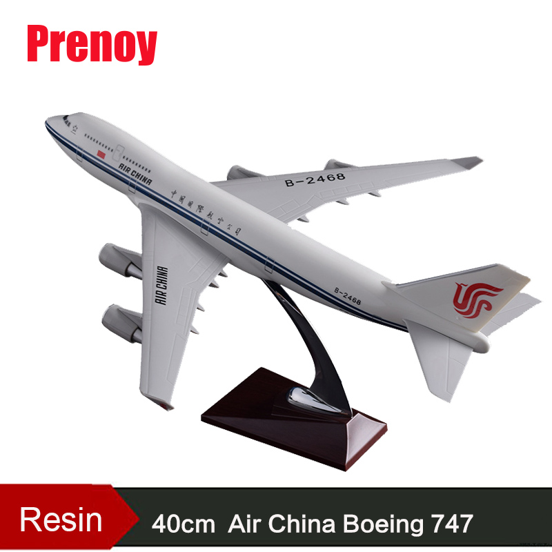 40cm Resin Air China Boeing 747 Aircraft Model China Airlines Airplane Airways Airbus Model B747 Plane Stand Craft Aviation Gift 40cm resin aircraft model boeing 737 nigeria airways airplane model b737 med view airbus plane model stand craft nigeria airline