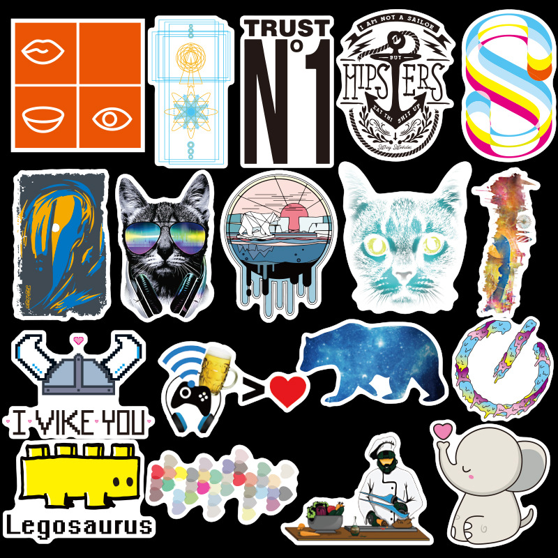 Image 2 - 100PCS Many Styles Waterproof Car Stickers Graffiti JDM Car Modification Sticker for Motorcycle Bicycle Helmet Suitcase Laptop-in Car Stickers from Automobiles & Motorcycles