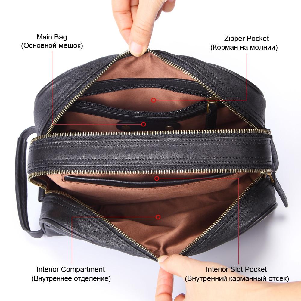 GENODERN 100% ของแท้หนังผู้ชายกระเป๋าเครื่องสำอางแต่งหน้ากระเป๋ากระเป๋าเดินทางกรณีมือถือ Make up Wash Nags สำหรับชาย Organizer-ใน กระเป๋าและเคสใส่เครื่องสำอาง จาก สัมภาระและกระเป๋า บน   2