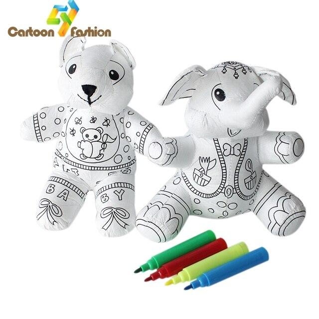 Kinder Frühe Kreative Bildungs Puppen Graffiti DIY Handgefertigten ...