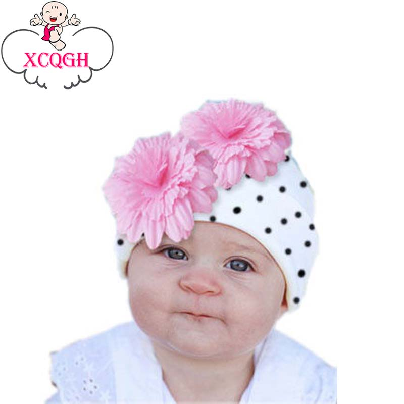 XCQGH Big Floral Baby Hat Cotton Baby Beanie Hats Four Seasons Multicolor Girls Boys Toddler Hat Baby Headwear 6Months-2T