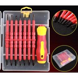 8PCS VDE Elektriker Schraubendreher-set DIY Werkzeuge Elektrische Voll Isolierte Hohe Spannung Multi Schraube Kopf Typ