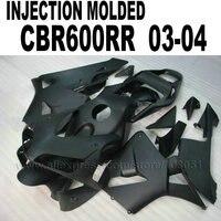 7gifts Injection Molding fairings kits for 2003 Honda CBR 600 RR 2004 CBR600RR 03 04 cbr600 all matte black fairing bodywork pa