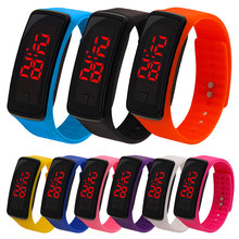Led touch meter student sports electronic bracelet watch LED baby watch silicone watch led watch boy girl gift watch(China)