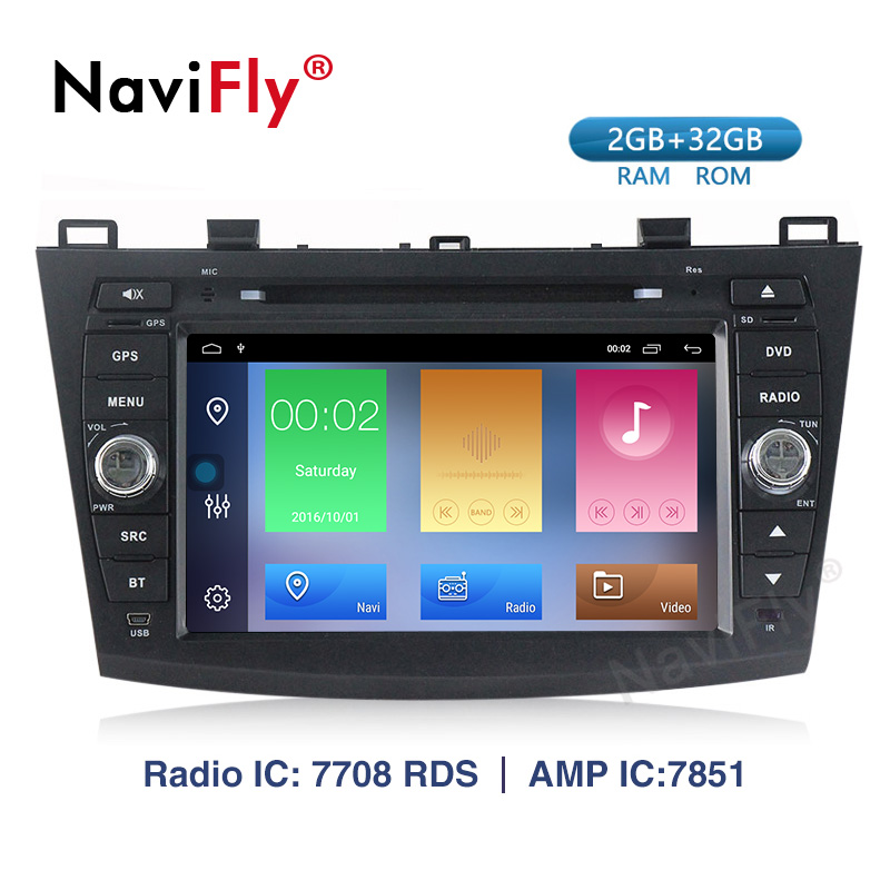 Excellent Android 9.1 Car Radio Multimedia for Mazda 3 Mazda 3 maxx Axela 2010-2013 2din car dvd gps navigation player headunit 0