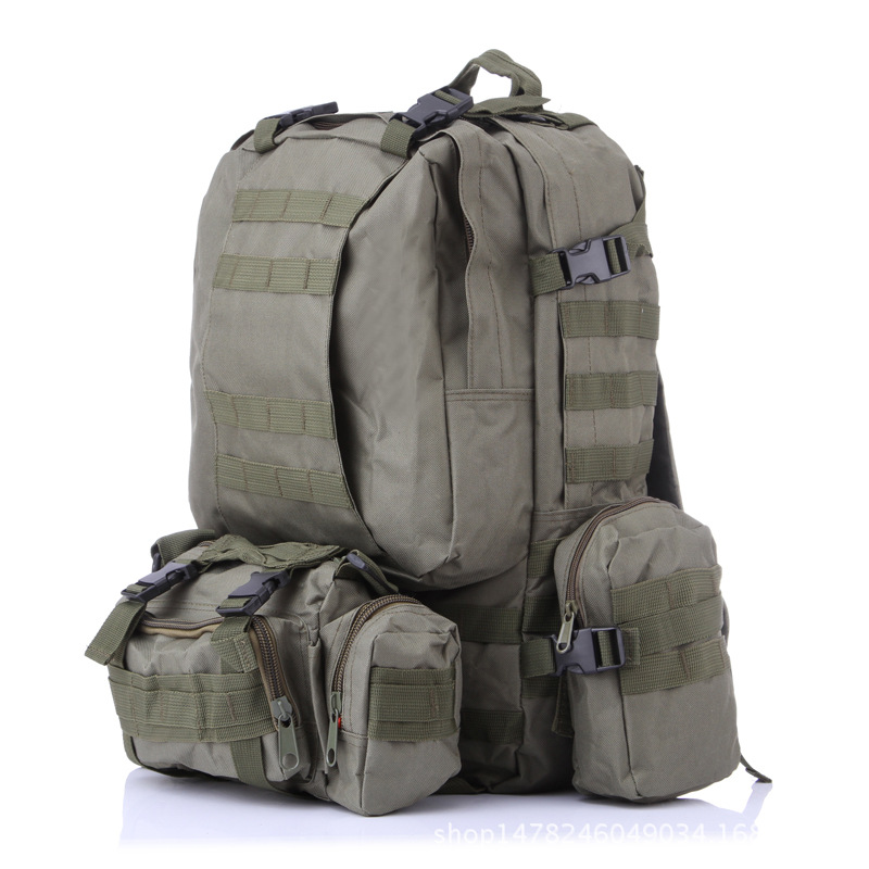 Multifunctional Military Tactical Backpack 50L 600D Oxford Camouflage Hiking Backpack Waterproof Sport Climbing Bag camouflage outdoor fishing chairs bag foldable 600d oxford peva waterproof layer cool fishing bag multifunctional sport backpack