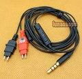 1.2m Handmade Cable + Remote For Sennheiser HD580 HD600 HD650 earphone Headphone Iphone/Samsung