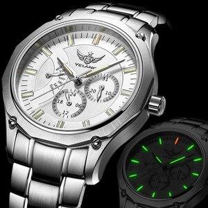 Image 4 - YELANG Tritium Watch For Men Quartz Watches T100 Luminous Auto Date Flyback Waterproof Sport Wristwatch Montre Relogios V1027