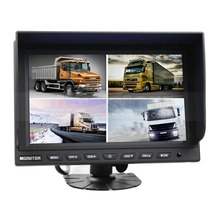 DIYSECUR New 9 Inch Split Quad Display Color Rear View Monitor For Car Truck Bus Reversing Camera CCTV Security Monitor