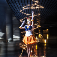 Sailor Moon Sailor Venus Minako Aino cos fighting suit Cosplay Costume Halloween costume