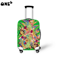 ONE2 Design fruit monkey forest 22,24,26 inch luggage cover suitcase for ladies women high school students girls boys teenager
